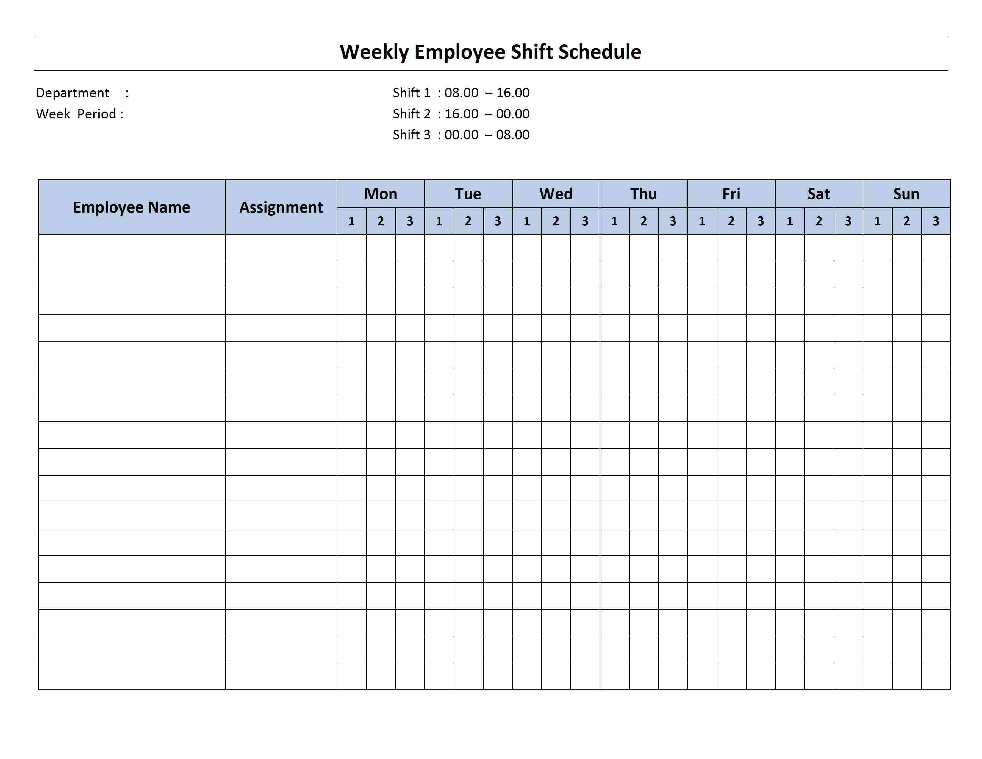 Weekly 8 Hour Shift Schedule (With Images)   Cleaning Eight Week Calendar Template