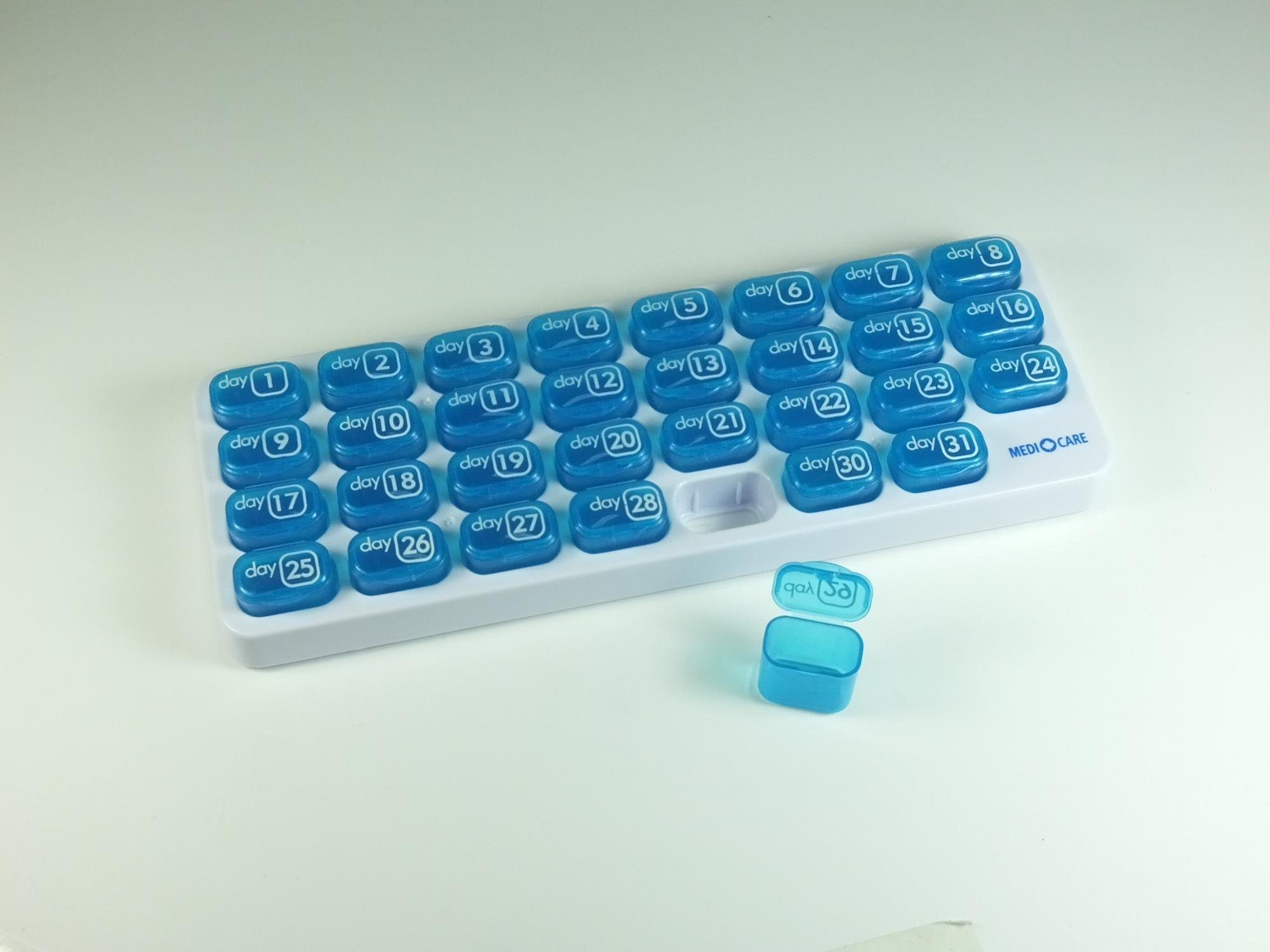 Wholesale 31 Days Monthly Pill Box Pill Container With Pop Image Box Of 31 Days