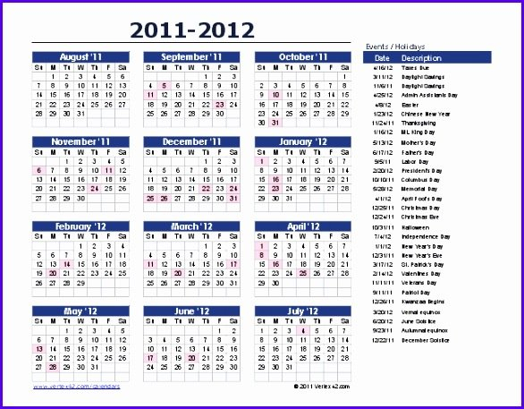 10 Year Calendar Template Excel – Excel Templates – Excel 5 Year Calendar Template