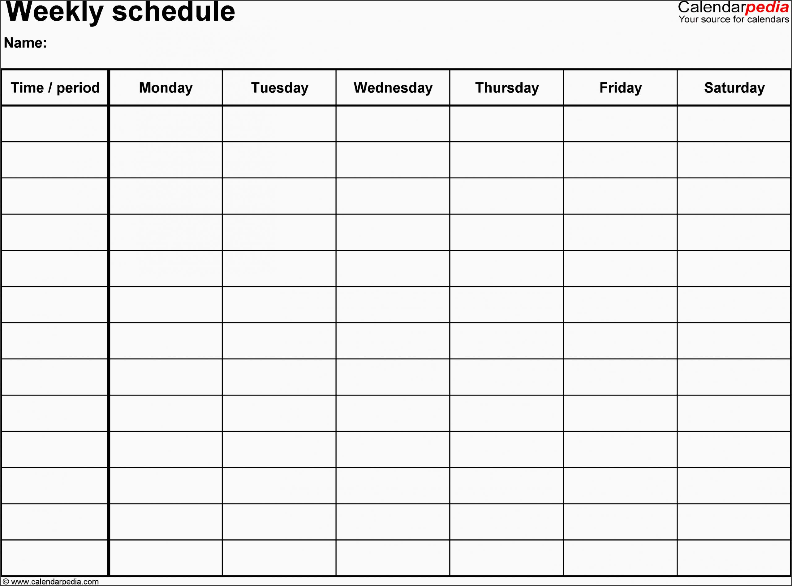 11 Employee Daily Planner Template – Sampletemplatess 8 Week Calendar Doc
