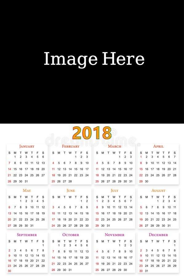 12 Months Calendar Design 2019 2020 Stock Vector 12 Months Calendar Editable