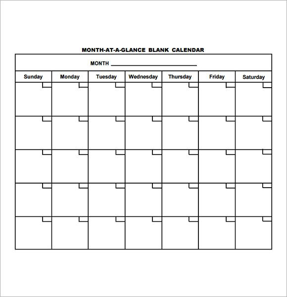 12 Sample Annual Calendar Templates To Download   Sample Sunday Thru Saturday Schedule Layout