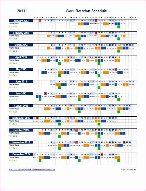 12 Scheduling Templates Excel – Excel Templates – Excel Excel On Call Rotation Calendar