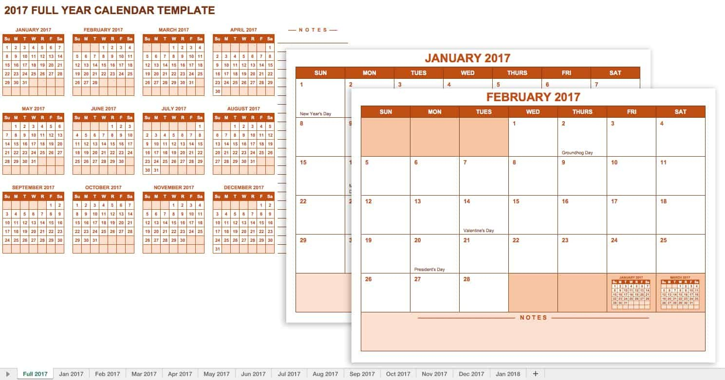 15 Free Monthly Calendar Templates   Smartsheet Free 12 Month Calendar Template For Expiry Dates