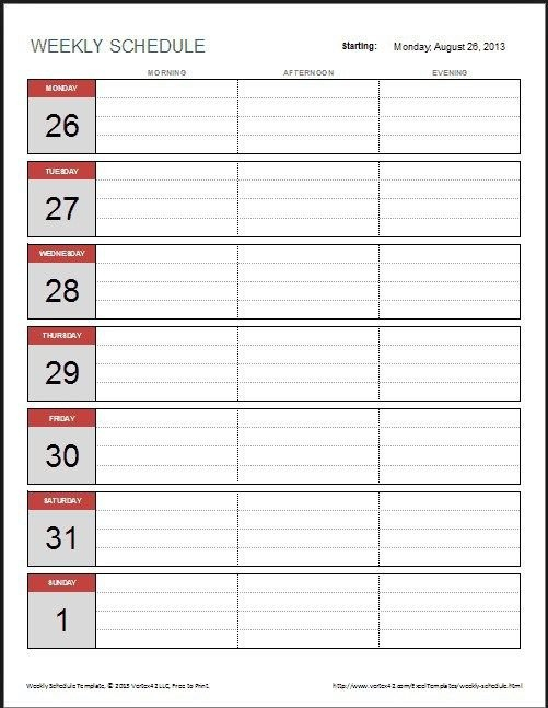 2 Week Calendar Template 3 (With Images) | Calendar 2 Week Calendar Sample