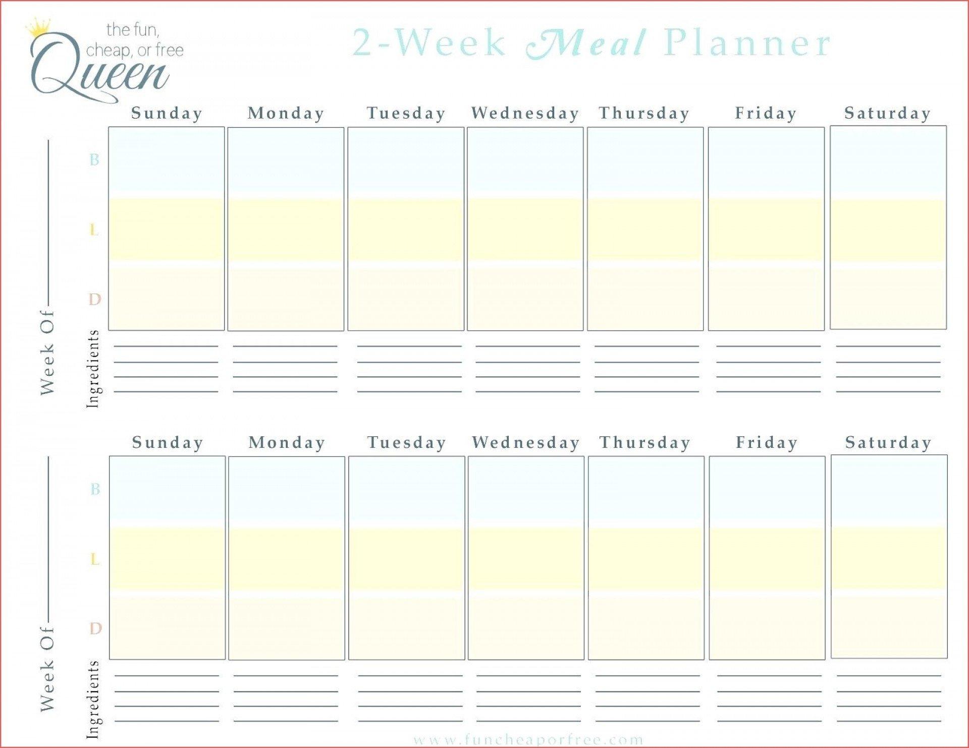 2 Week Calendar Template Printable | Free Calendar Two Week Calendar Template