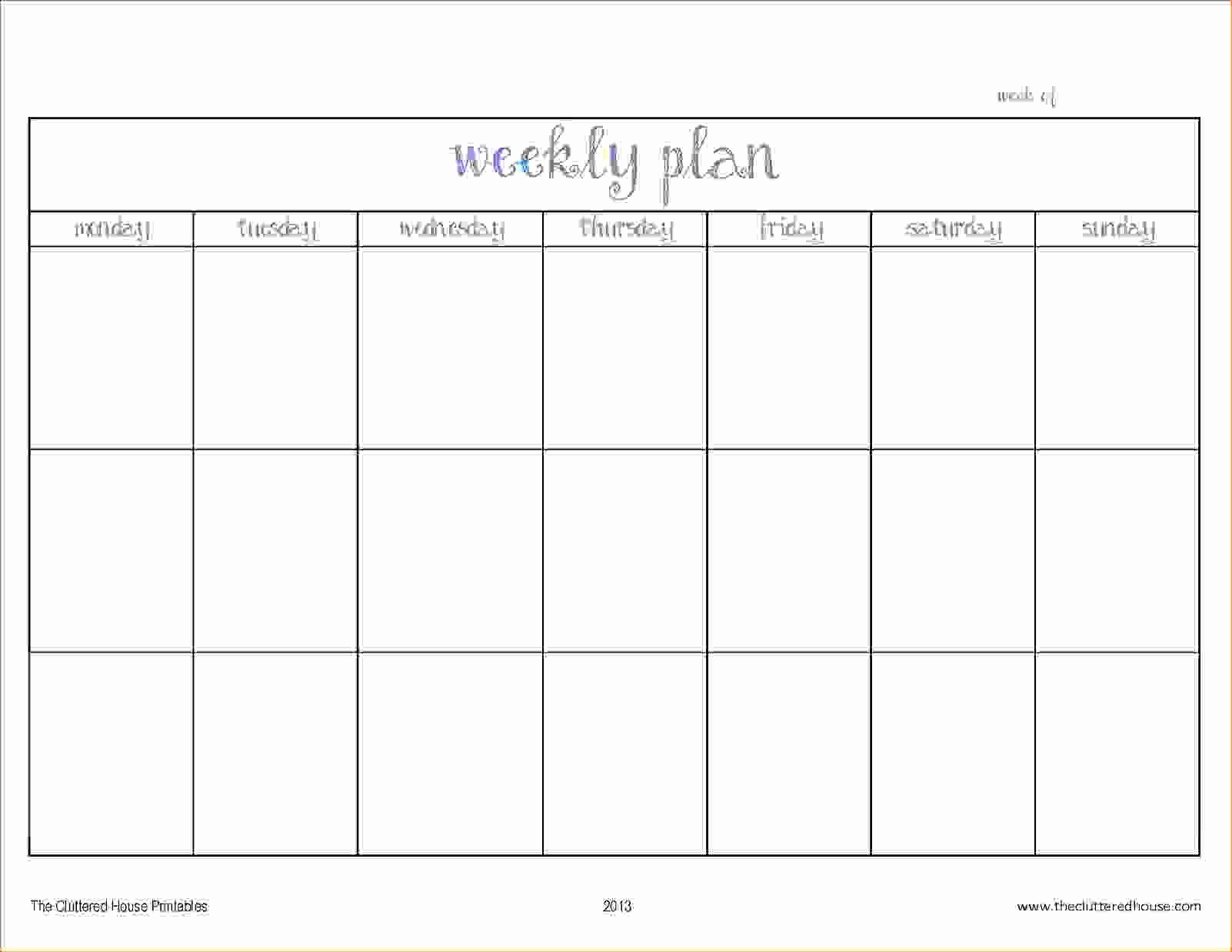 2 Week Schedule Template Printable   Example Calendar Printable 2 Week Calendar