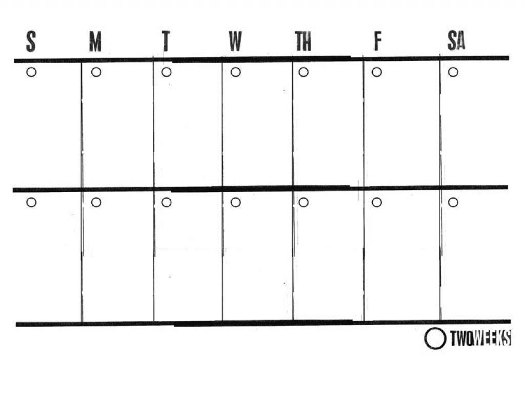 2 Week Schedule Template Printable   Example Calendar Printable Calendar For Every 2 Weeks