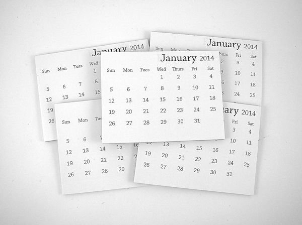 2014 Mini Tear-Off Calendar (Set Of 10) | Calendar, Print Printable Rip Off Day Calendar
