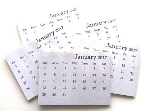 2017 Mini Tear Off Calendar (Set Of 10)   Mini Calendars Printable Rip Off Day Calendar