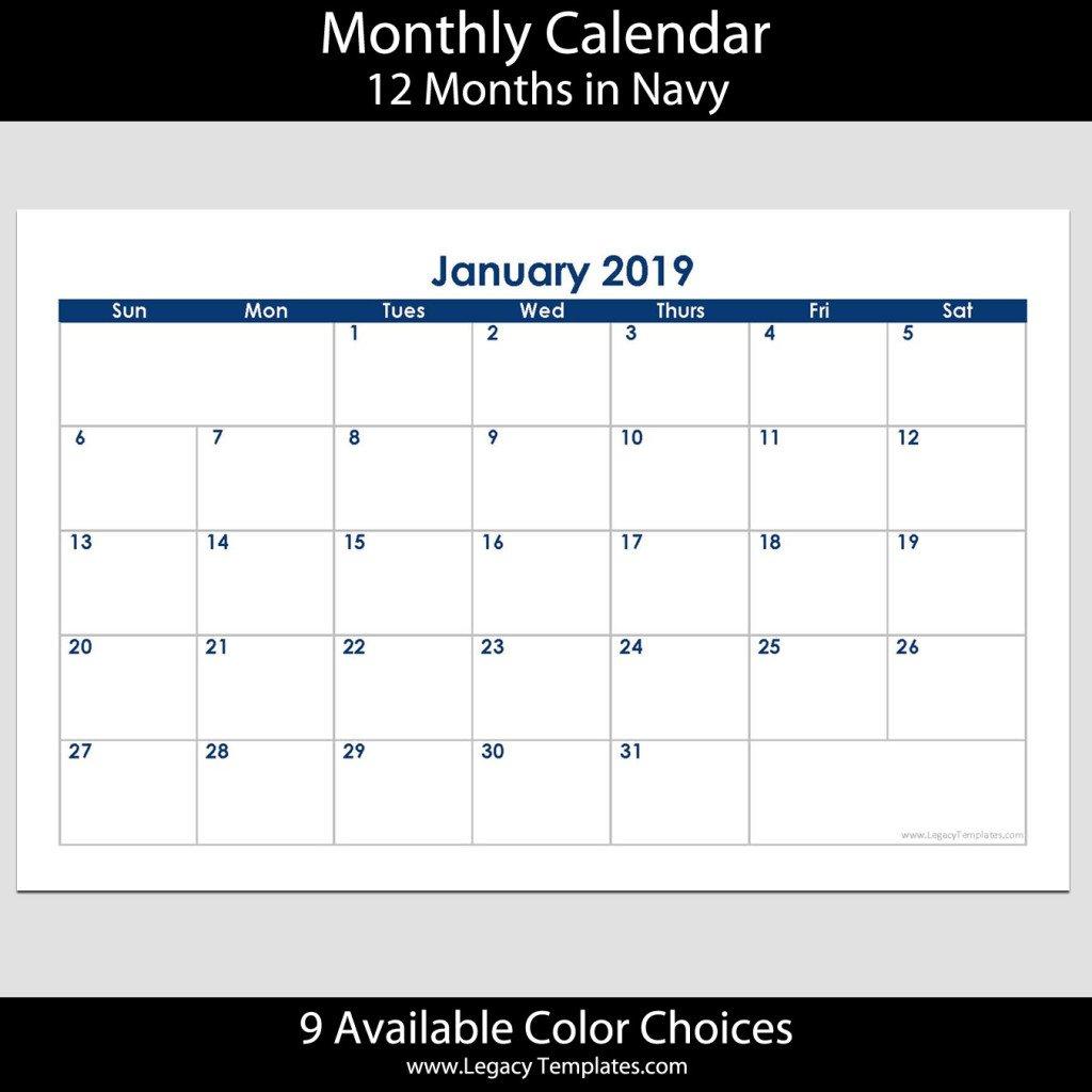2019 12 Month Landscape Calendar – 5.5 X 8.5 | Legacy Calendar 8 X 11 Downloadable
