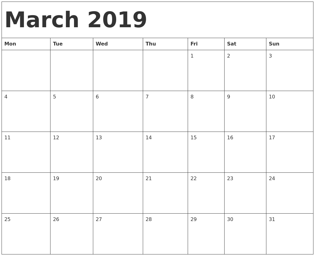2019 Blank Calendar Print Outs Fill In With Holidays Free Fill In Weekly Schedule