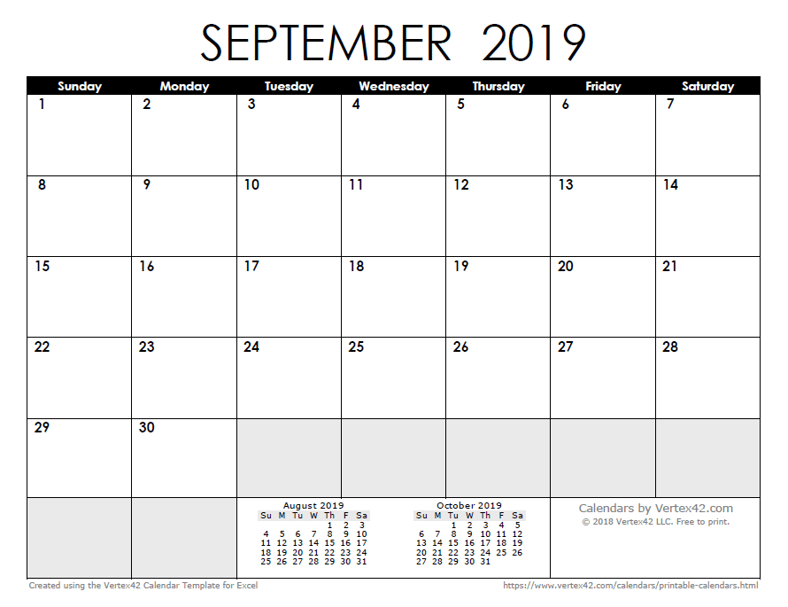 2019 Calendar Templates And Images Understated Calendar Template In Publisher
