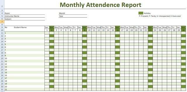 2019 Employee Attendance Calendar Printable | Attendance Printable Employee Booked Time Off Calendar