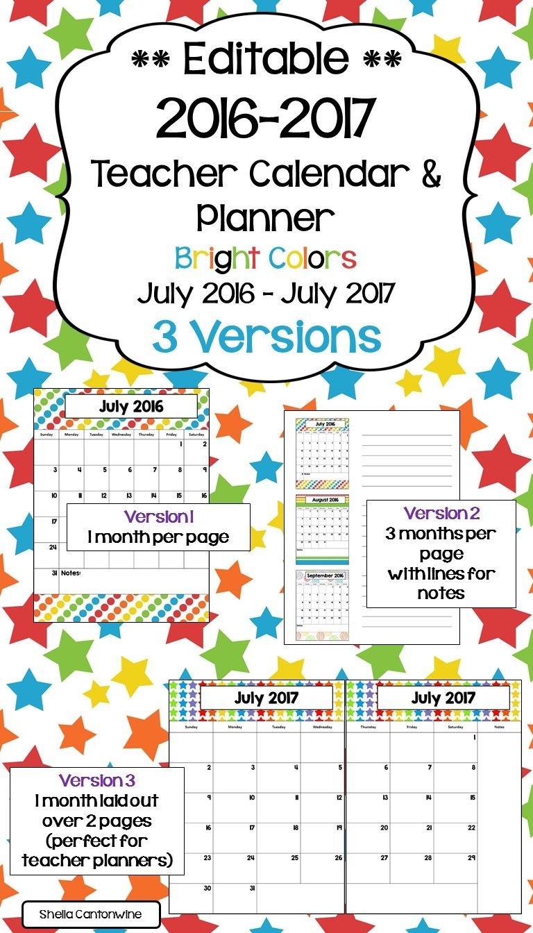 2020 2021 Calendar Printable And Editable With Free Free Editable Calendars For School
