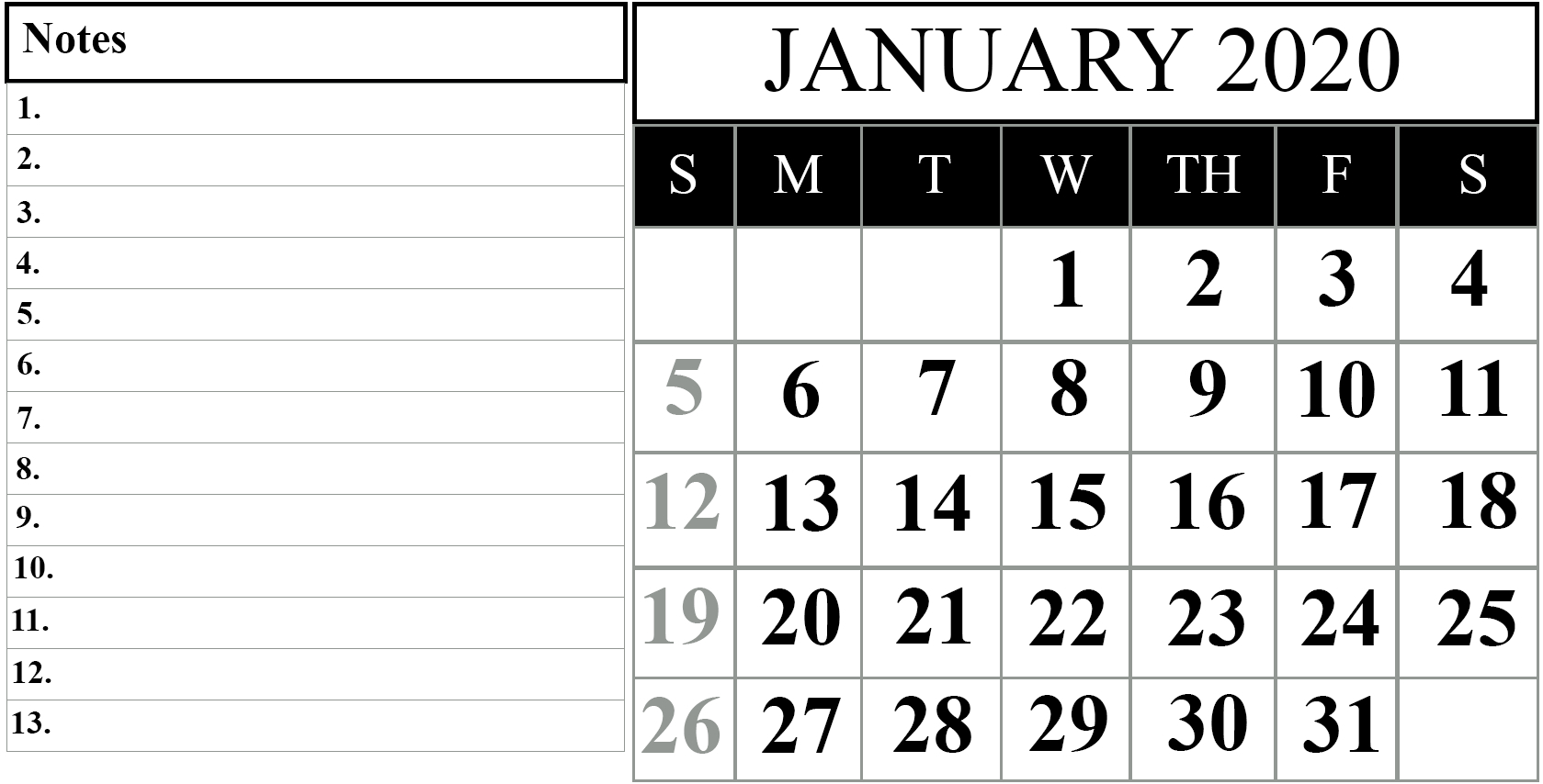 2020 Calendar I Can Edit | Calendar Template Printable Calanda Templete That I Can Edit