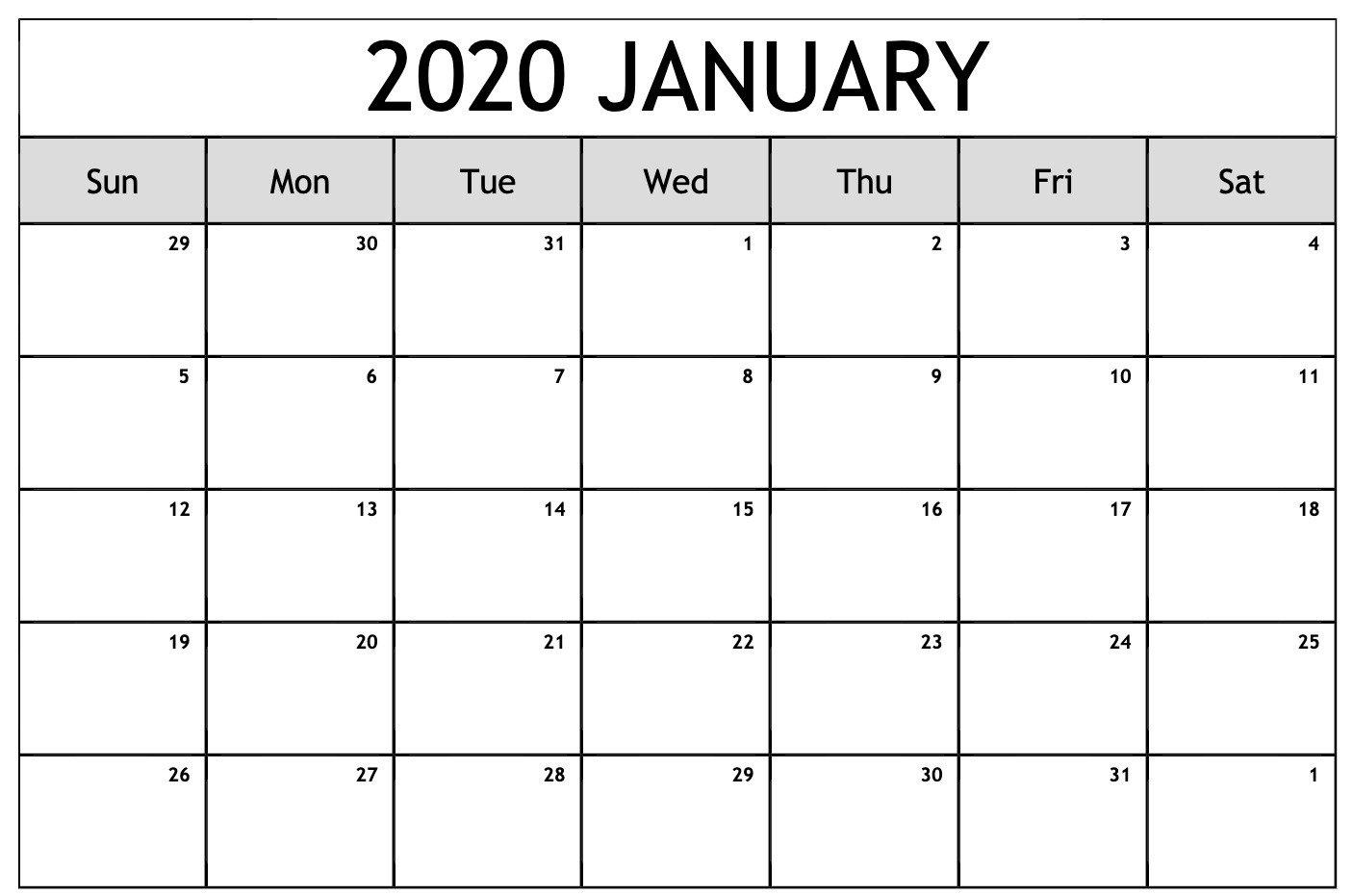 2020 Calendar You Can Edit   Calendar Printables Free Calendars You Can Modify