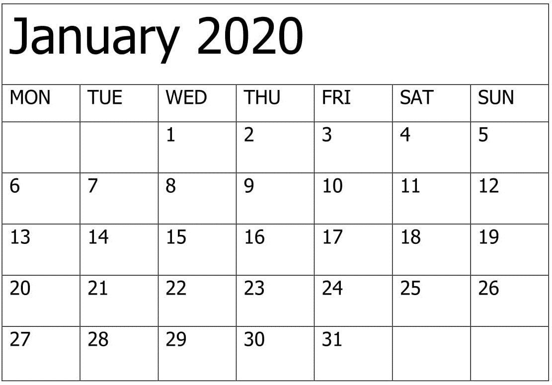 2020 Calendar You Can Edit | Calendar Printables Free Free Calendar You Can Edit
