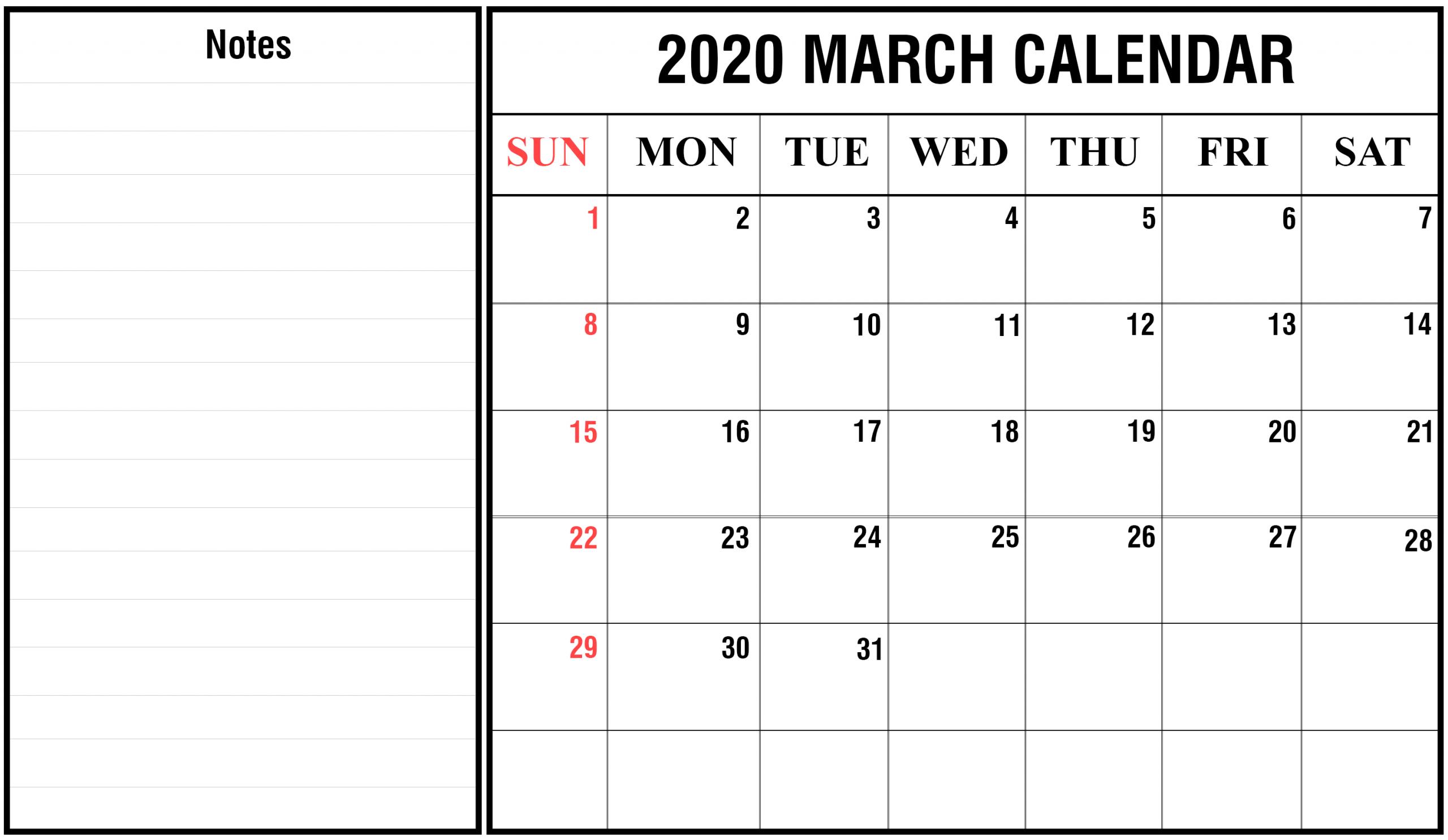 2020 Calendar You Can Edit | Calendar Template Printable April Calendar That Can Be Edit
