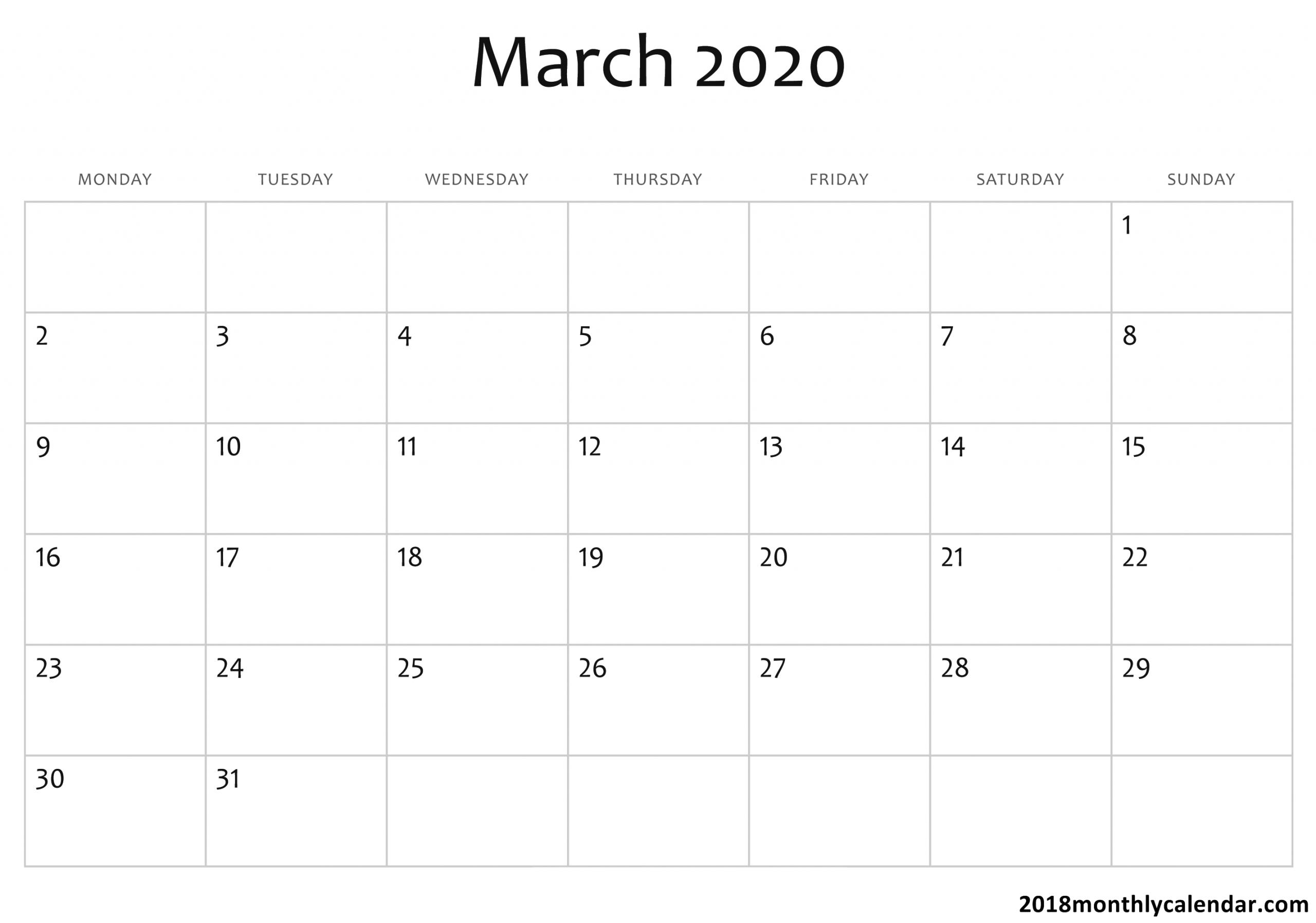 2020 Calendar You Can Edit   Calendar Template Printable Monthly Calendars You Can Edit