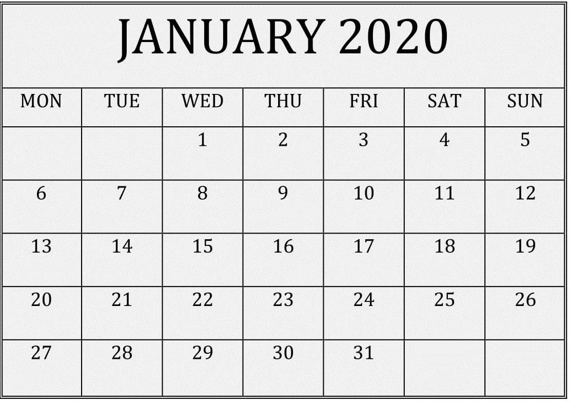 2020 Calendar You Can Edit   Month Calendar Printable Free Calendar I Can Edit
