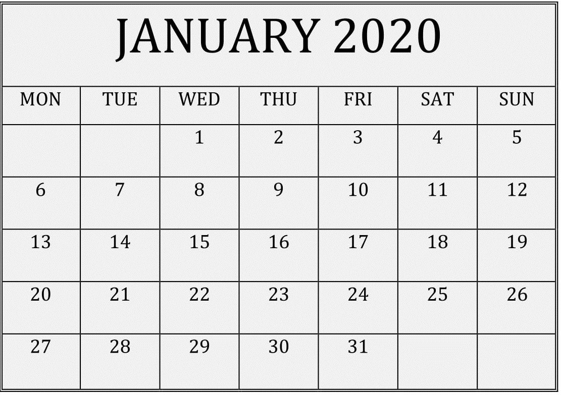 2020 Calendar You Can Edit | Month Calendar Printable Monthly Calender I Can Edit On