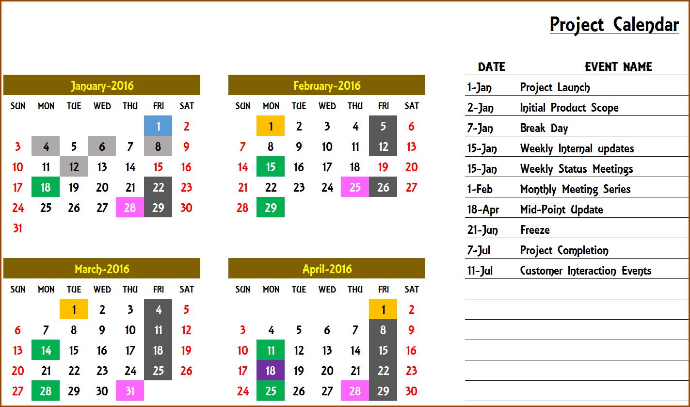 2020 Excel Calendar Template – Excel Calendar 2020 Or Any Excel 5 Year Calendar