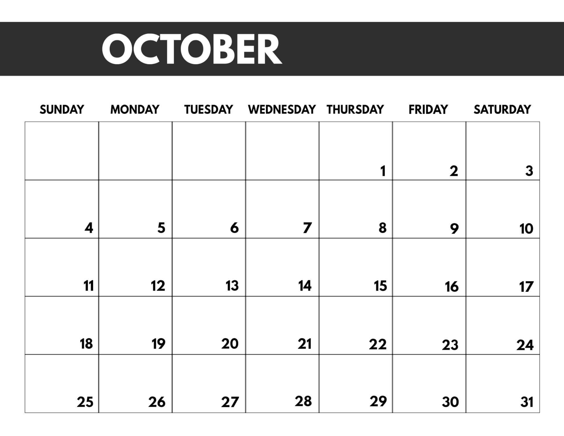 2020 Free Monthly Calendar Template | Paper Trail Design Free Blank Calendar Page