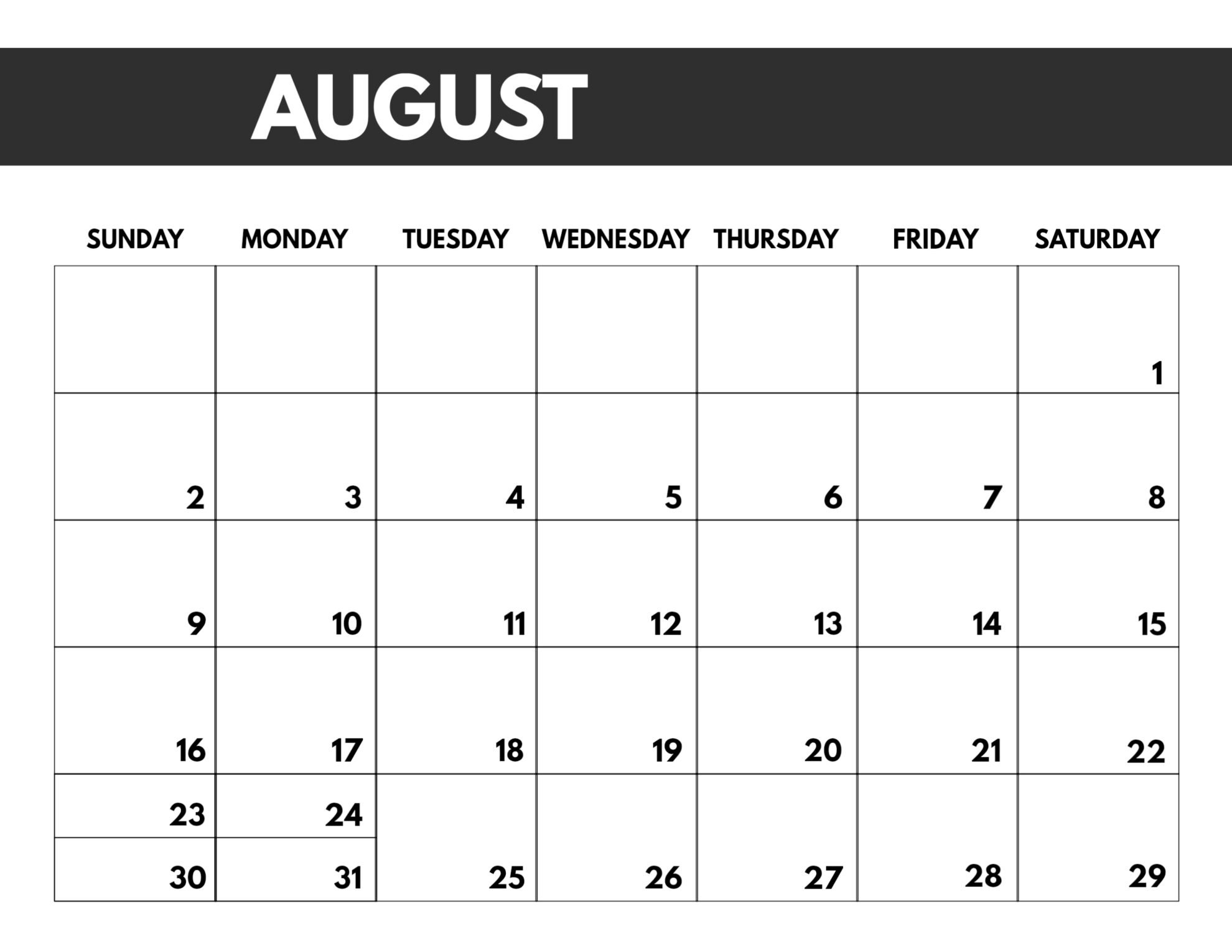 2020 Free Monthly Calendar Template | Paper Trail Design Printable Full Size 8 X 11 Calander