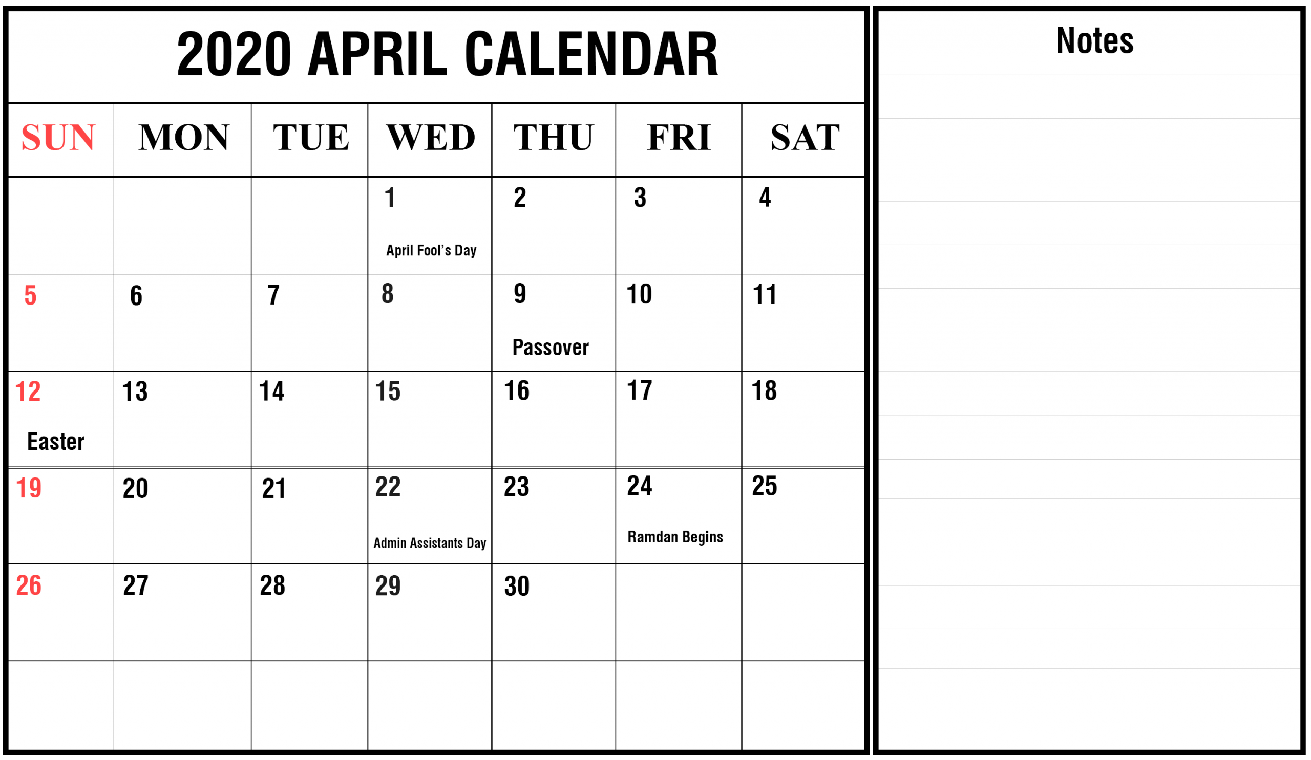 2020 Free Printable Monthly Calendars You Can Edit With Calendars That You Can Edit