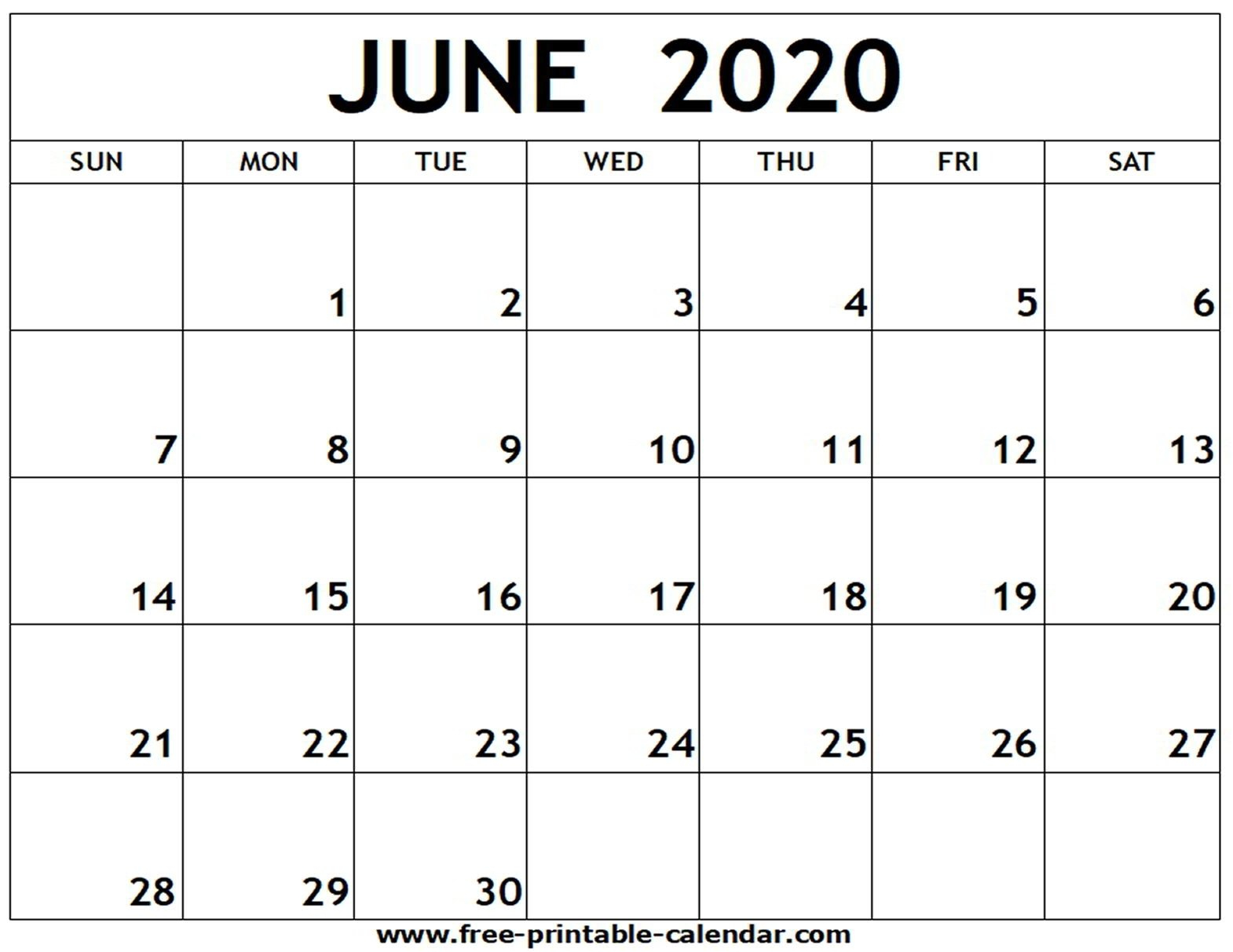 2020 Printable Fill In Calendar – Calendar Inspiration Design How To Fill June Calendar