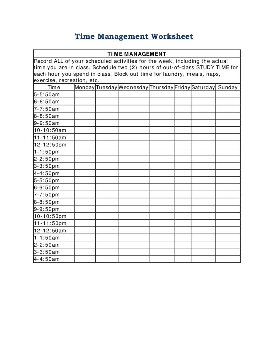 2020 Time Management – Fillable, Printable Pdf & Forms Time Management Calendar Free