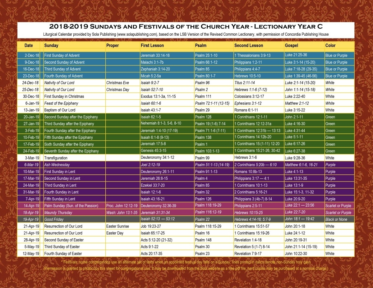 2020 United Methodist Liturgical Color Calender | Calendar Liturgical Colors Calendar For Methodist
