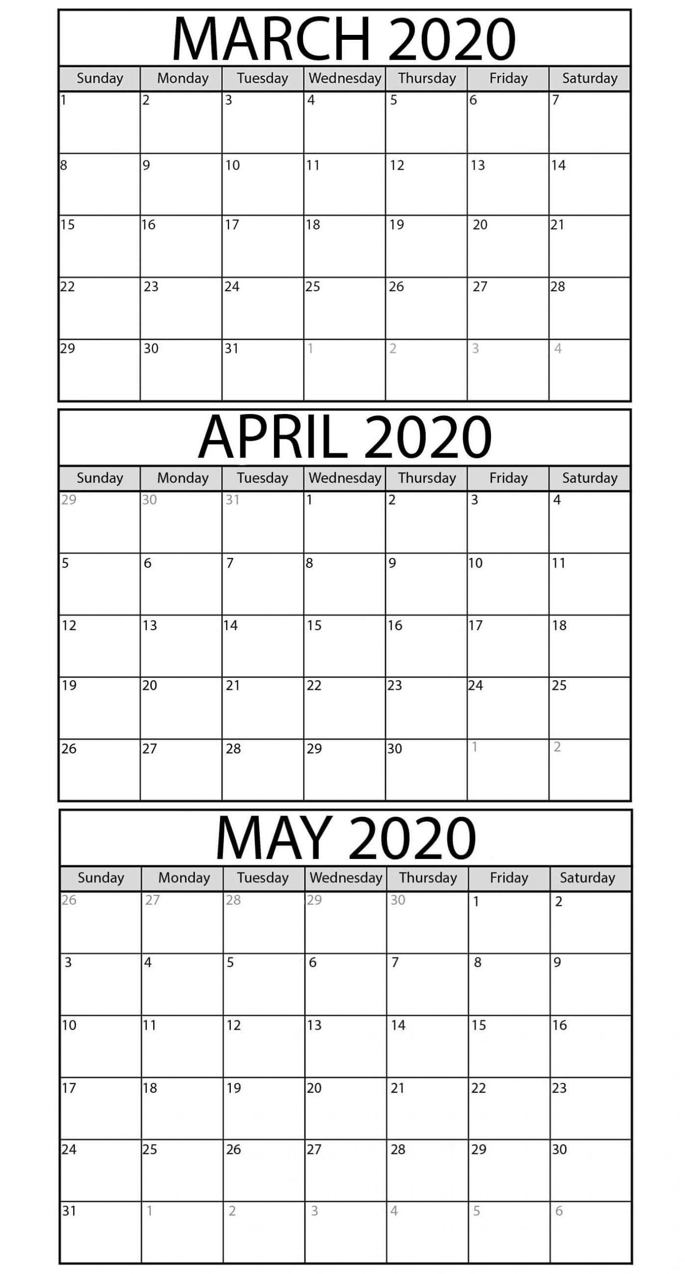 3 Month Calendar Printable 2020 | Calendar For Planning Applications To Print 3Month Calendars