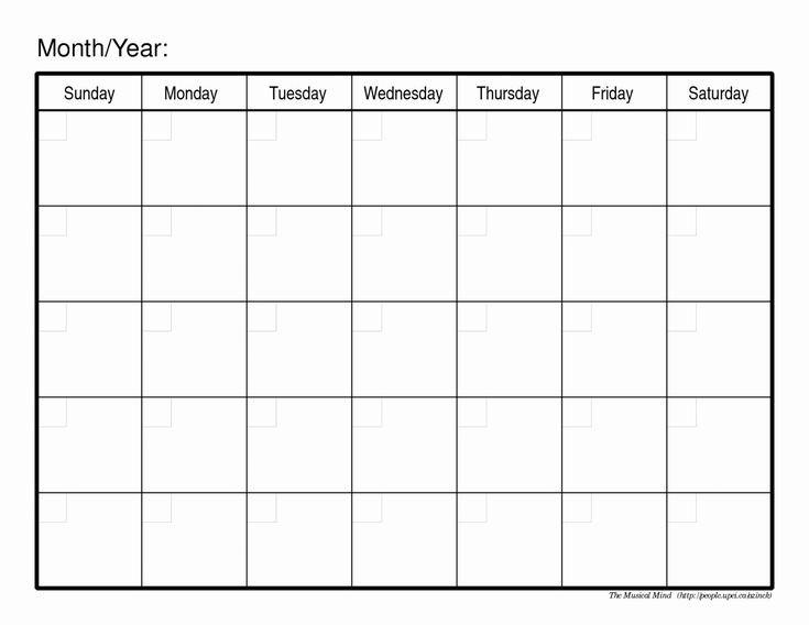 30 30 Day Calendar Template | Blank Calendar Pages, Blank Printable Blank 30 Day Calendar