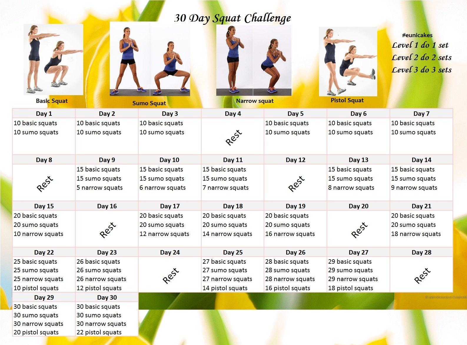 30 Day Plank Challenge   Eunicakes 30 Day Plank Challenge Calendar Printable