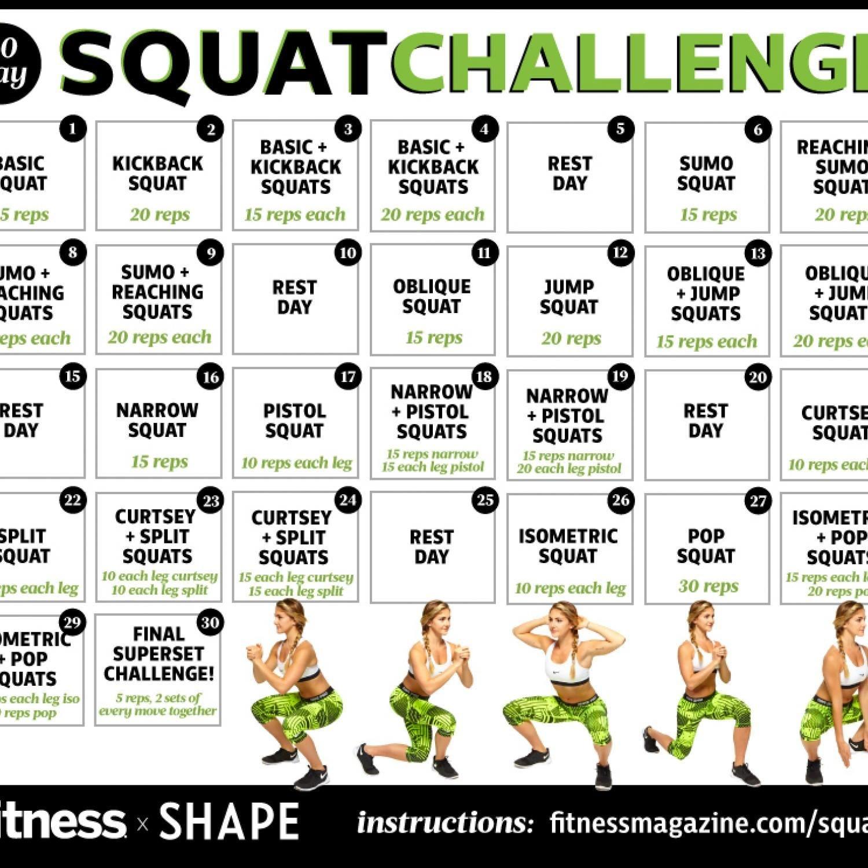30 Day Squat Challenge Calendar | Printable Calendar 2020 2021 30 Day Squat Challenge Schedule Calendar