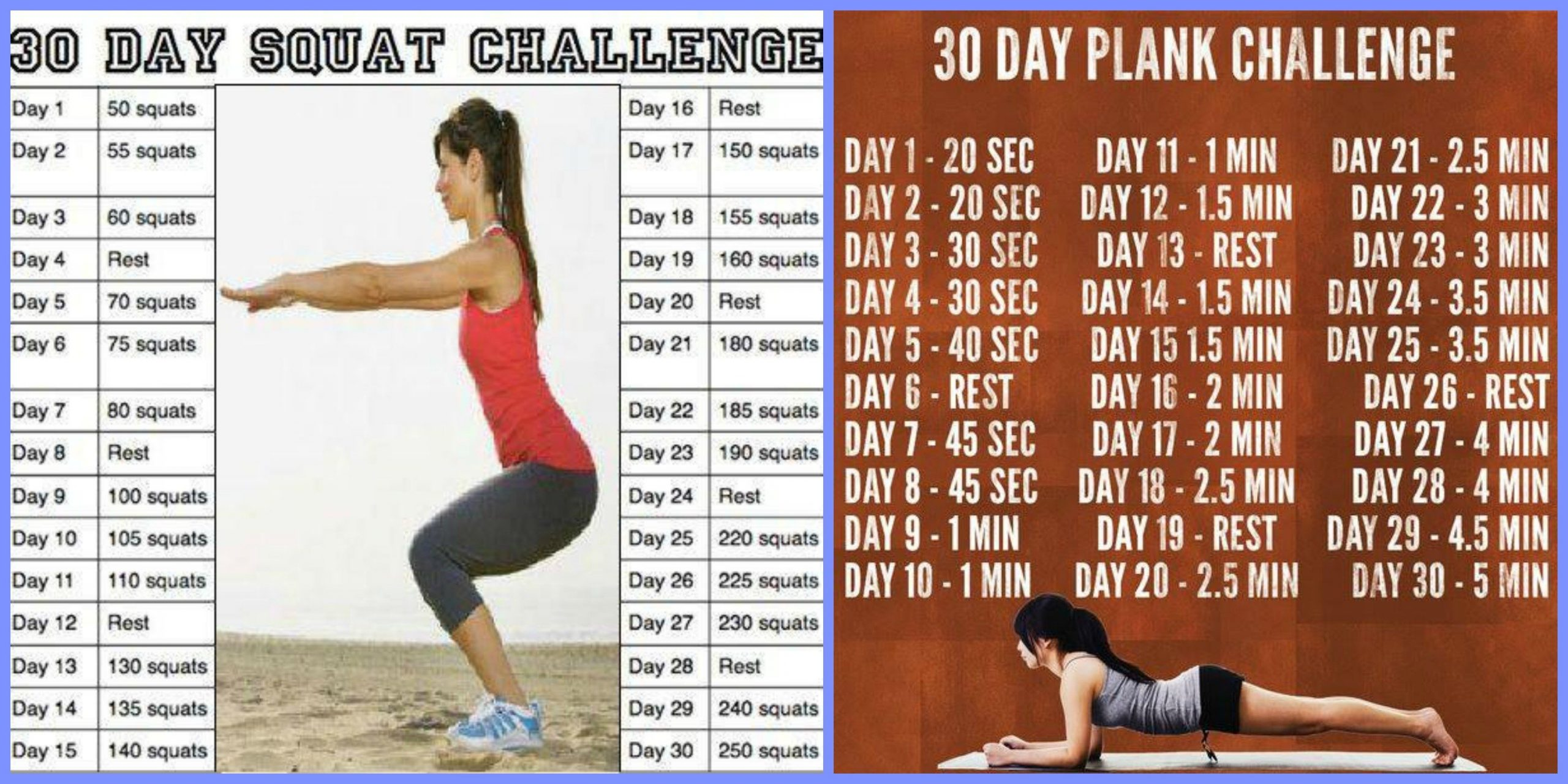 30 Day Squat, Plank And Arm Challenge! – Exercise – Forums Printable Plank Challenge Calendar