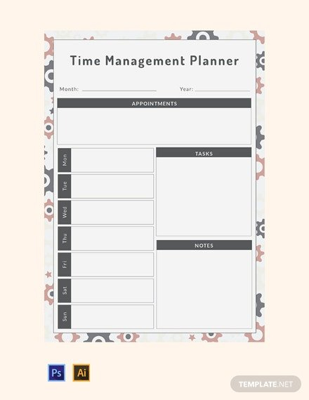 35+ Free Planner Templates – Word | Psd | Indesign | Apple Free Templates For Time Management