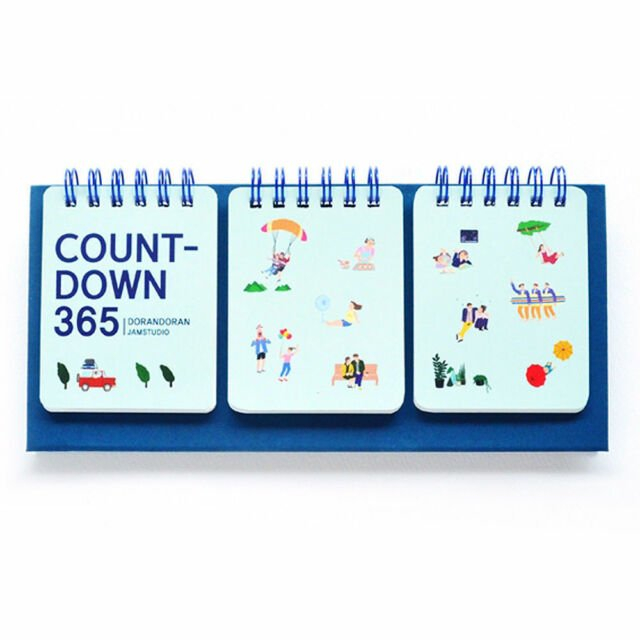 365 Wirebound Lovely Perpetual Calendar D Day Count Down 365 Day Calendar Counter