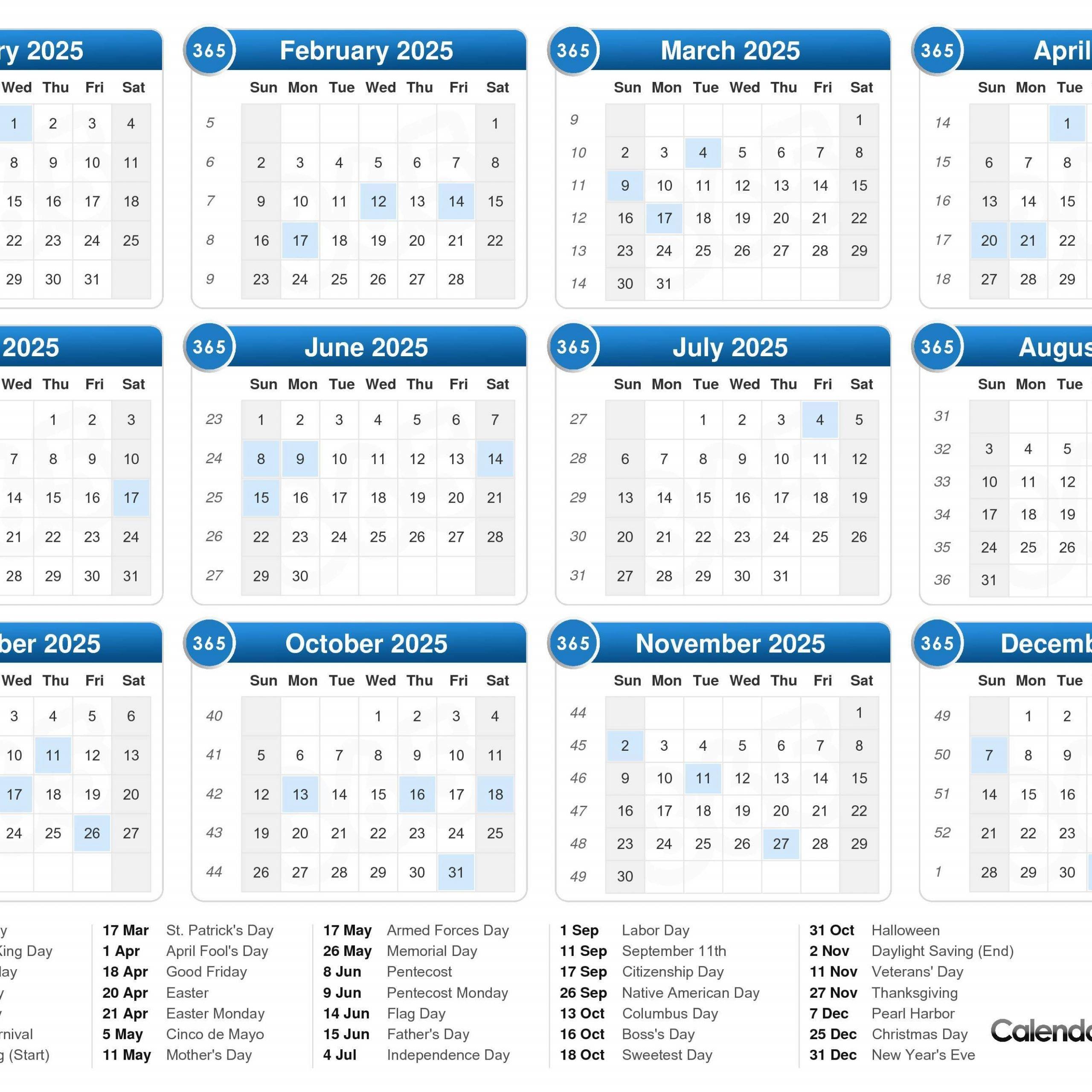 5 Year Calendar 2020 To 2025 | Free Printable Calendar Free Printable 5 Year Calendar