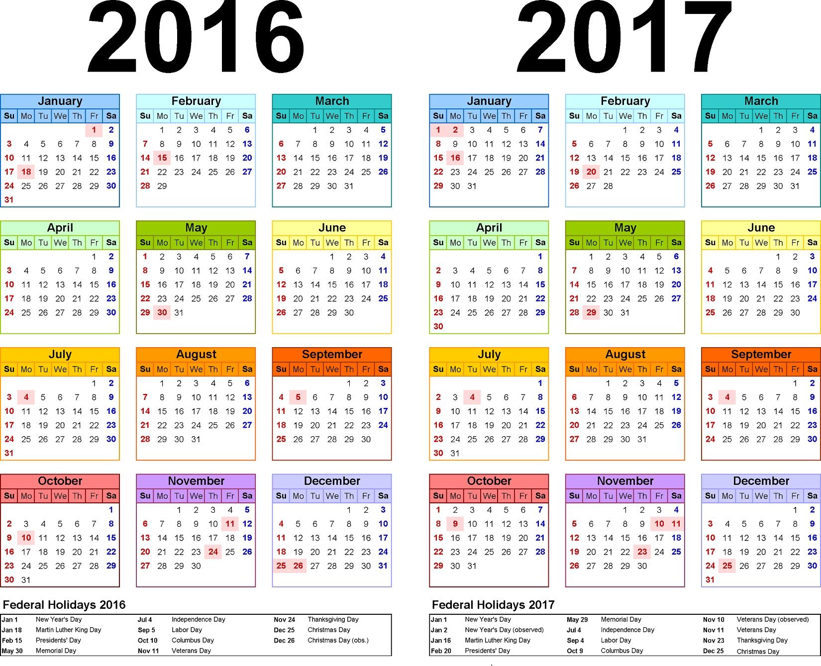 5 Year Calendar Planner   Month Calendar Printable Free Printable 5 Year Calendar