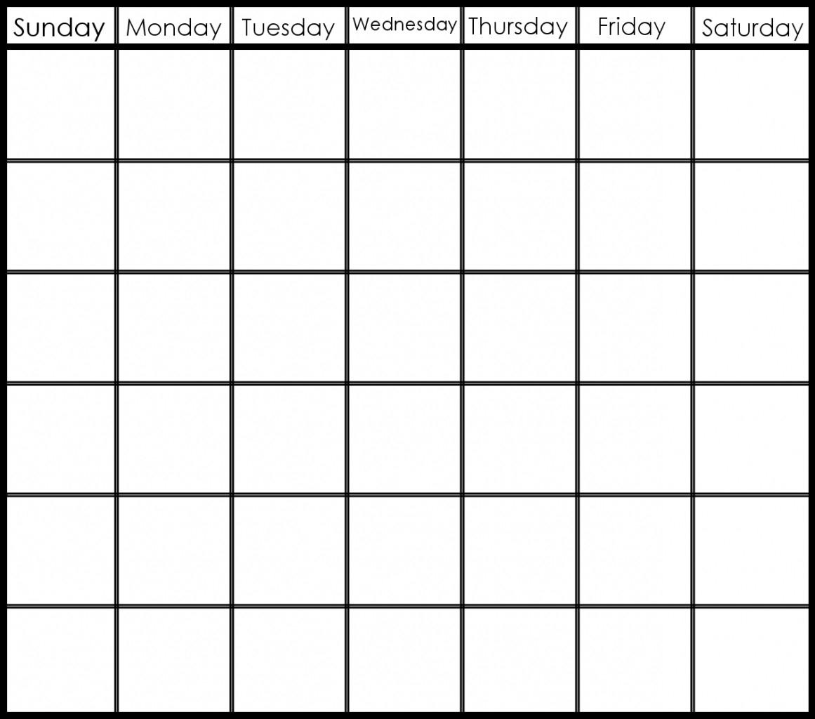 6 Week Blank Schedule Template   Free Calendar Template Printable 2 Week Calendar Template