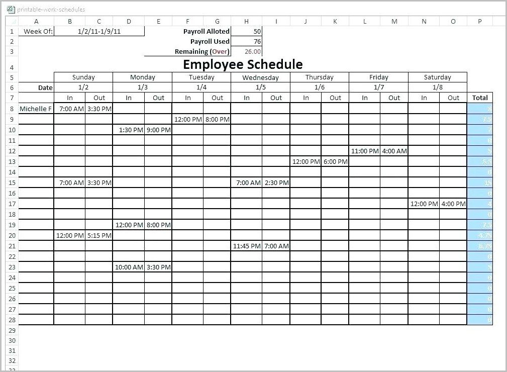 6 Week Rotating Schedule Template – Template : Resume Excel On Call Rotation Calendar