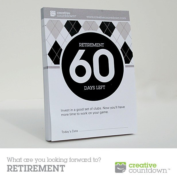 60 Day Countdown To Retirement Tear Off Calendar Countdown Calendar To Retirement