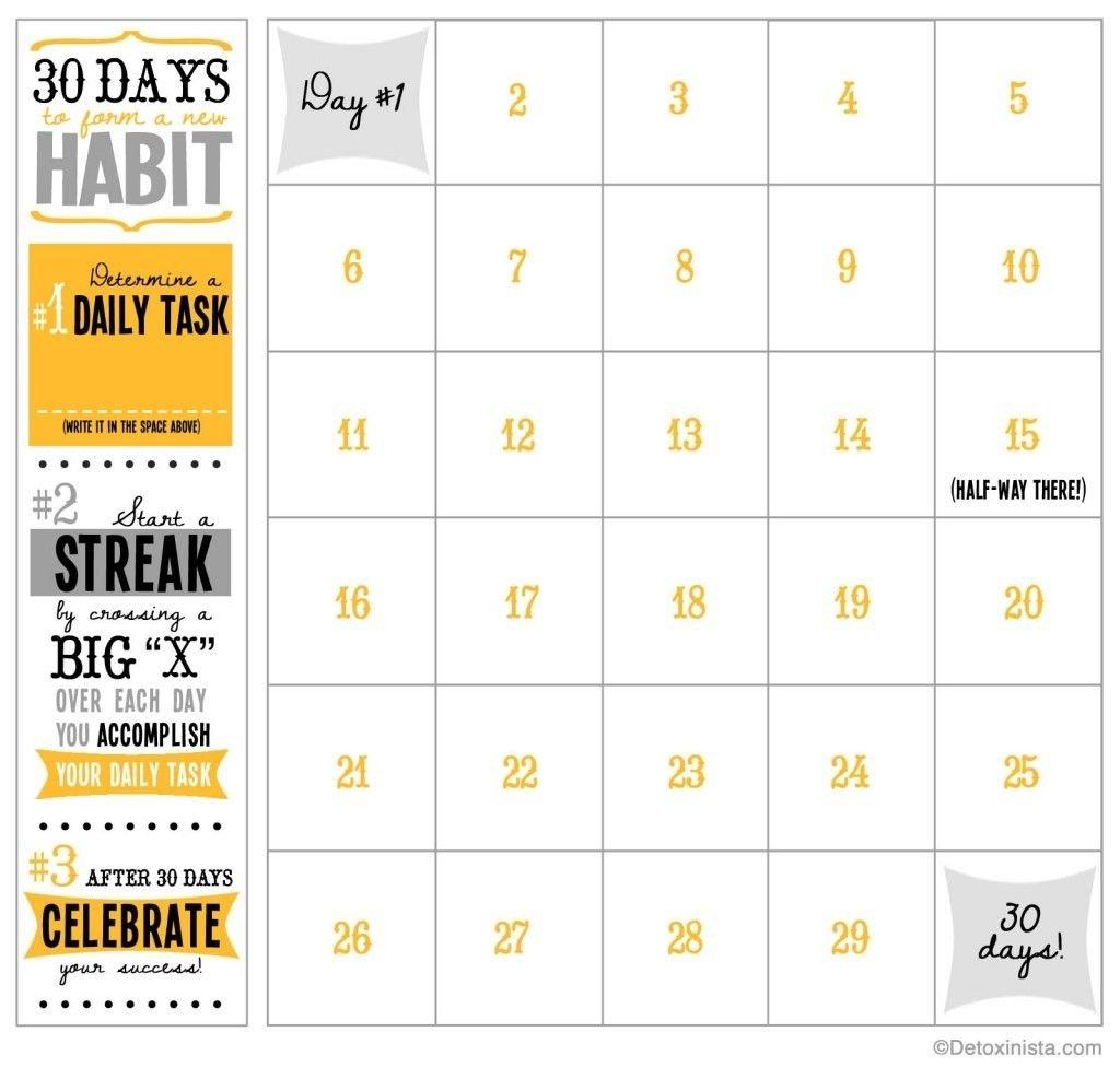 60 Days Challenge Template Calender – Calendar Inspiration Blank 30 Day Caldner Challenge
