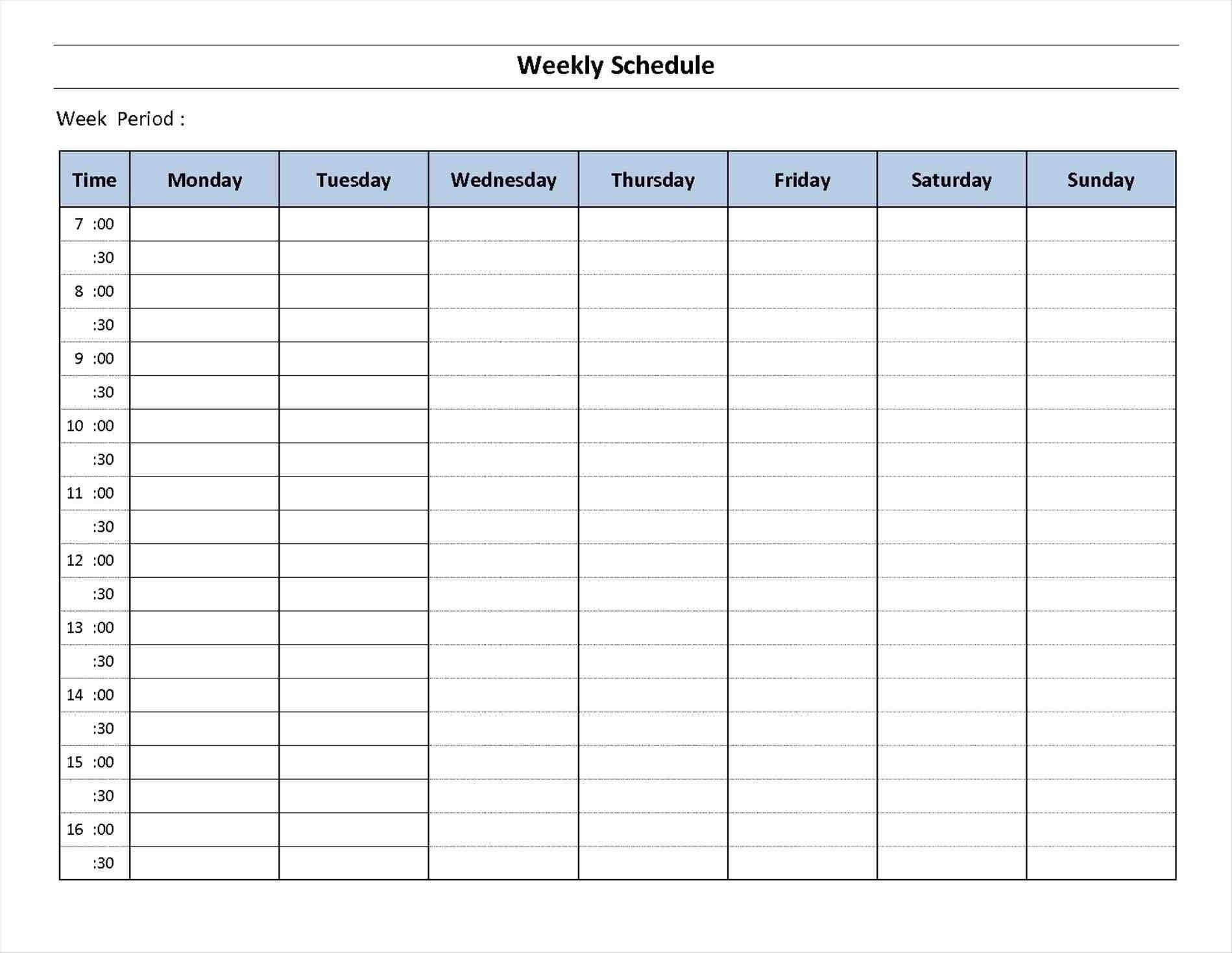 7 Day Calendar Template Fillable – Calendar Inspiration Design 7 Day Calendar Printable
