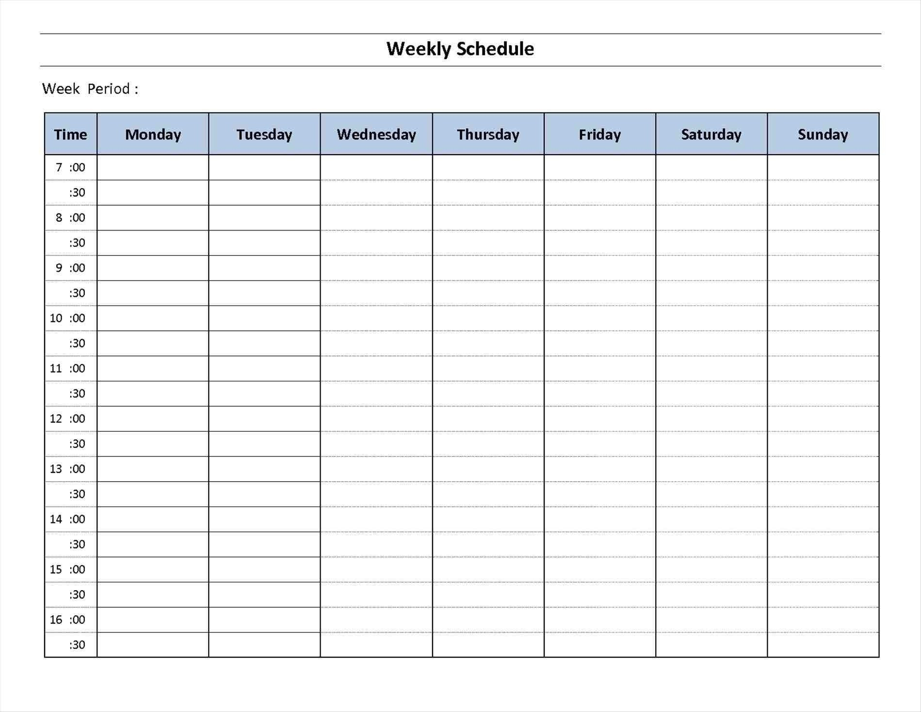 7 Day Calendar Template Fillable – Calendar Inspiration Design Fillable Blank Calendar Template