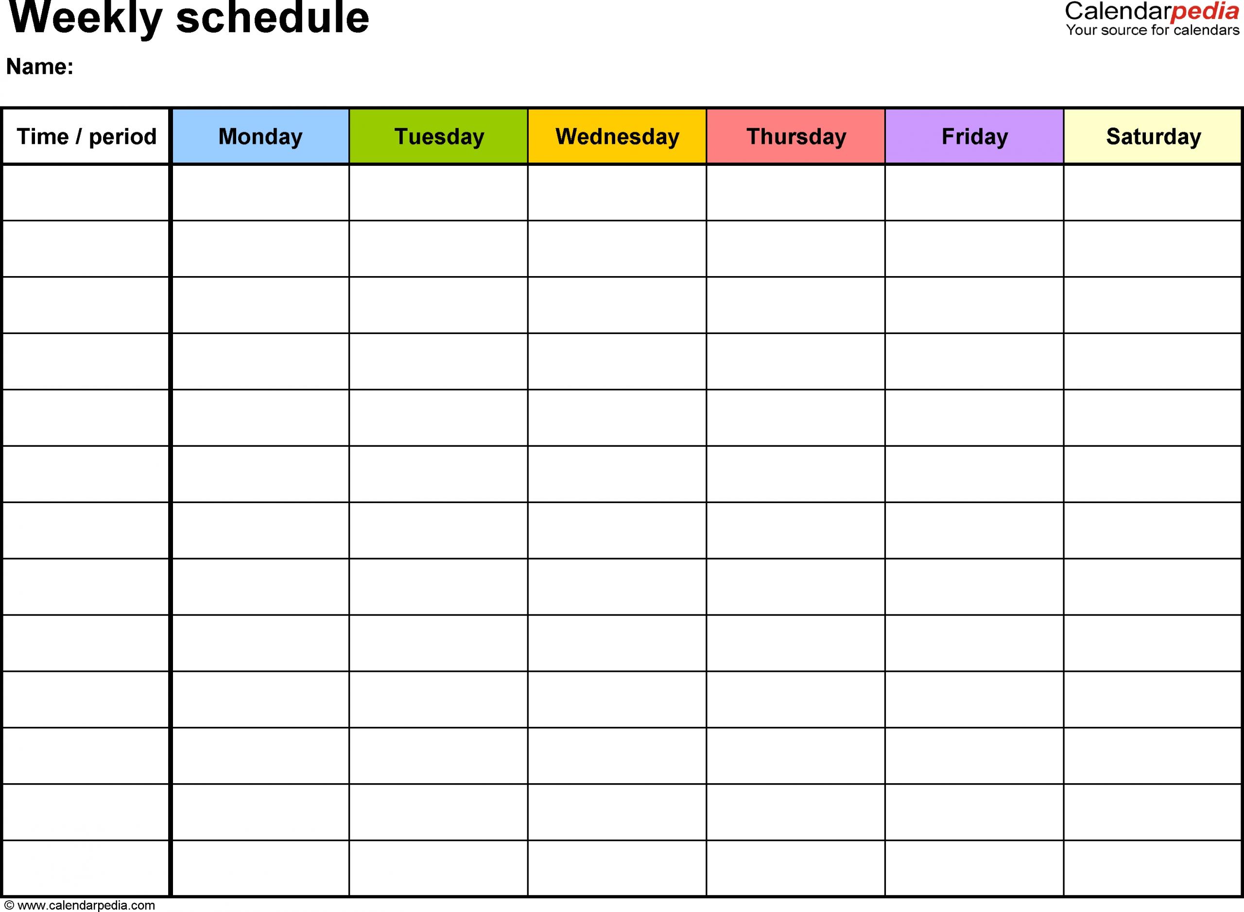 7 Day Calendar Template | Free Calendar Template Example 7 Day Calendar Printable