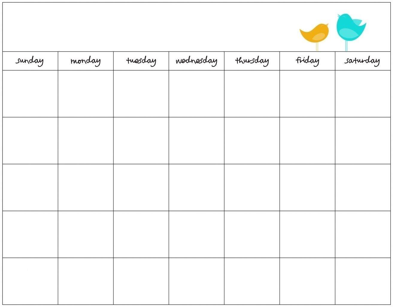 7 Week Calendar Template   Example Calendar Printable 1 Week Schedule Printable